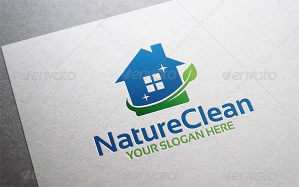 Nature Clean Logo Template