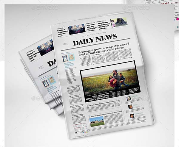 NewsPaper PSD Mockup
