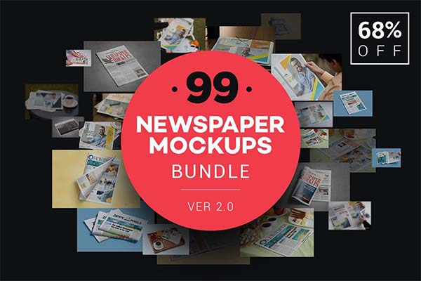 Newspaper Advert Mockups Bundle