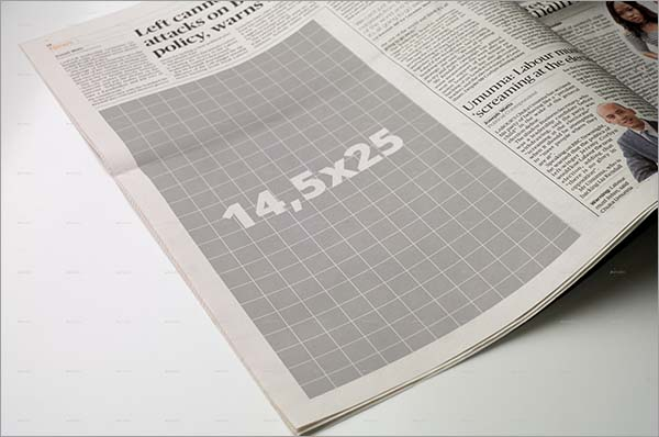 Newspaper Advertise Mockup PSD