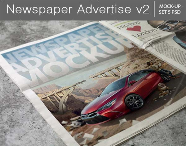 Newspaper Advertise PSD Mockup
