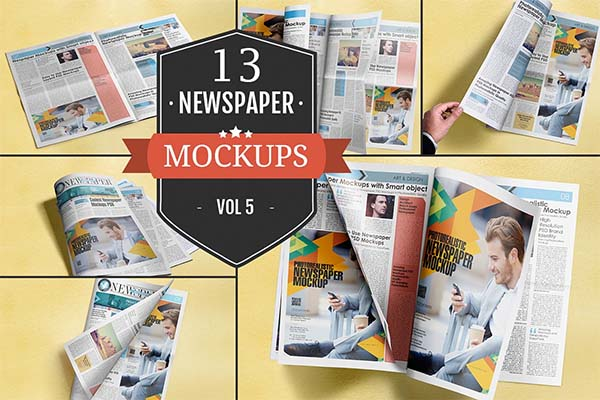 Newspaper Advertising Mockups