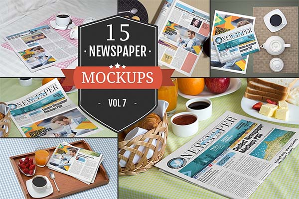 Newspaper Advertising PSD Mockups