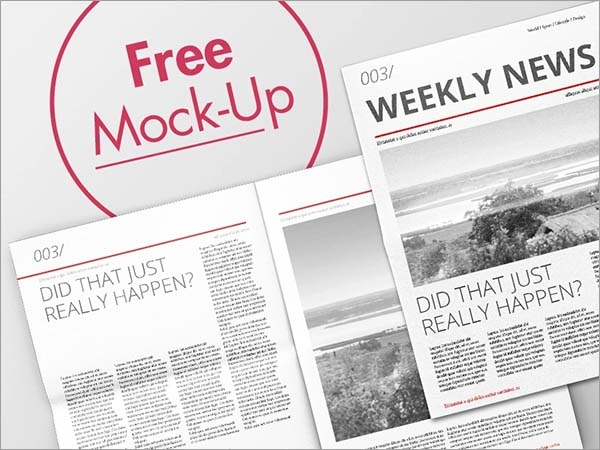 Newspaper Mock-Up Free Download