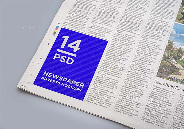 Newspaper PSD Adverts Mockups
