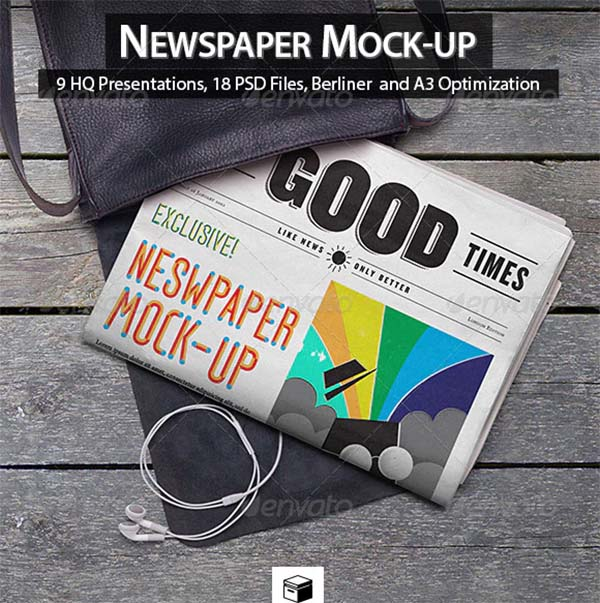 Newspaper Photoshop Mock-Up