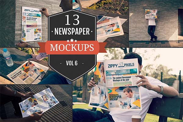 Outdoor Newspaper Ad Mockups