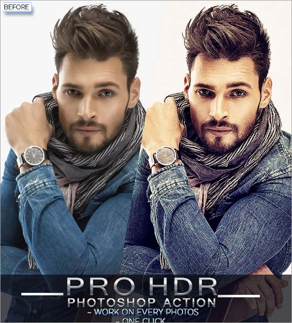 PRO HDR Photoshop Action