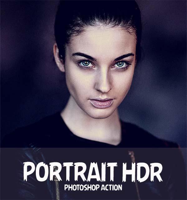 Portrait HDR PSD Action