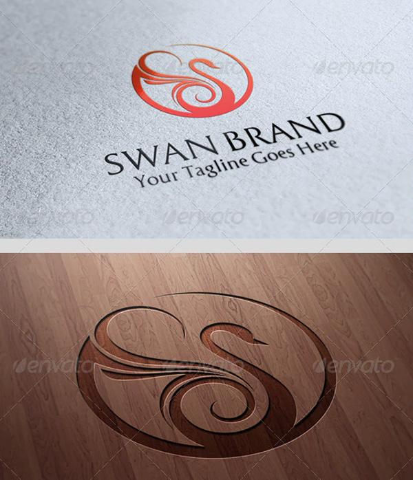 Printable Swan Logo Template