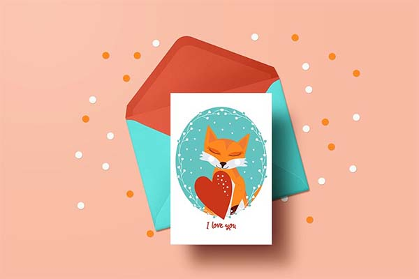 Printable Valentine's Day Card Template