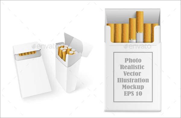 Realistic Cigarette PSD Mockup