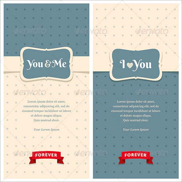 Retro Love Greeting Cards Template