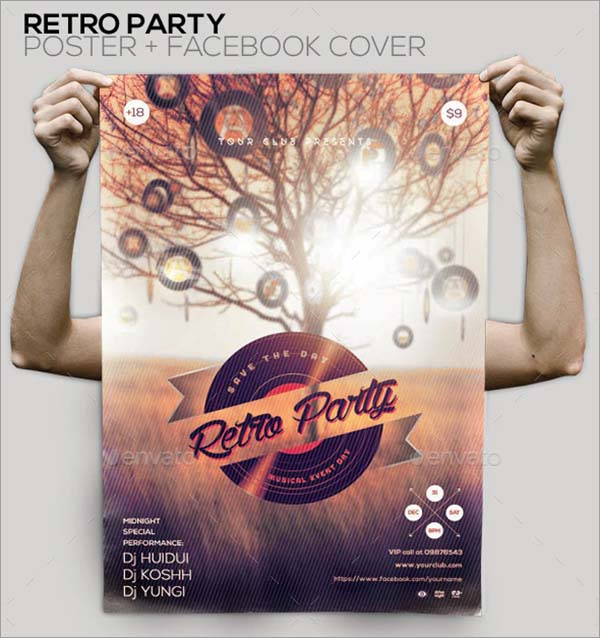Retro Party Vintage Poster and Flyer Template