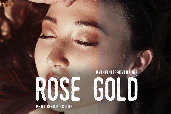 Rose Gold Studio Photoshop Action