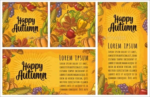 Seamless Pattern and Autumn Poster