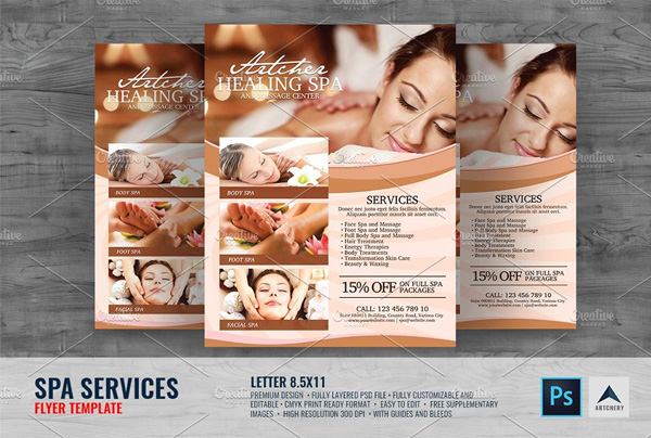 Spa Services Flyer Design Template
