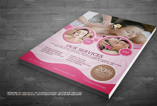 Spa Services Flyer Template