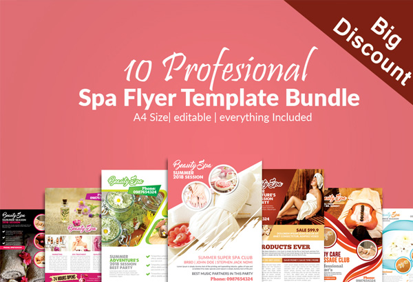Spa & Skin Care Center Flyers Bundle