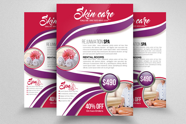 Spa & Skin Care Treatment Flyer