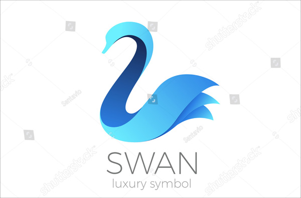 Swan Logo Abstract Design Template