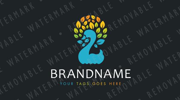 Swan of Leaves Logo
