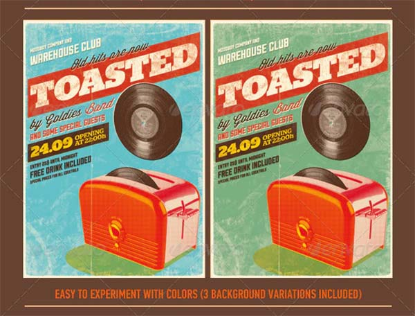 Toasted Vintage Poster