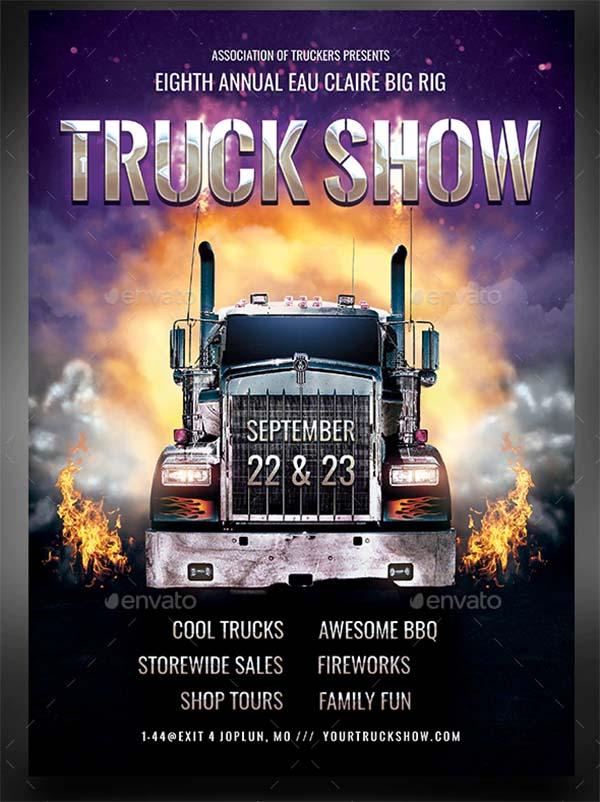 Truck Show Flyer Template