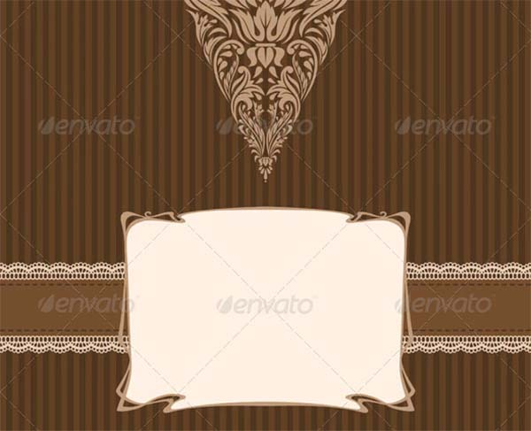 Vintage Love Greeting Card Template
