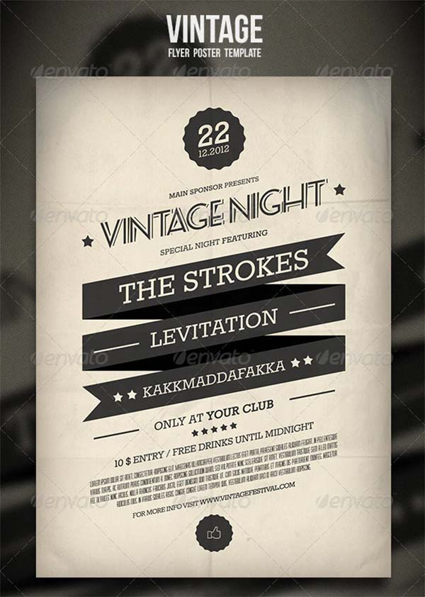 Vintage PSD Flyer and Poster Template