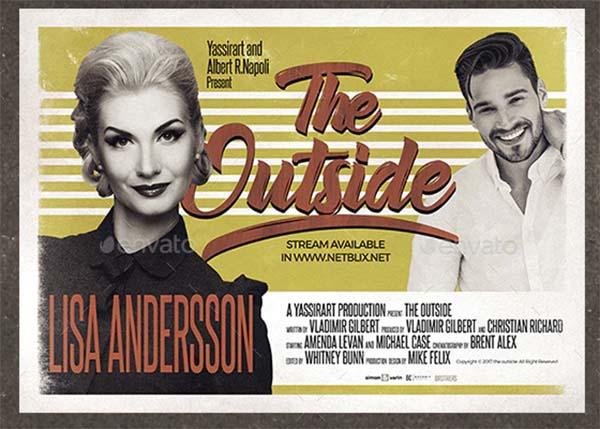 Vintage Poster Film Template