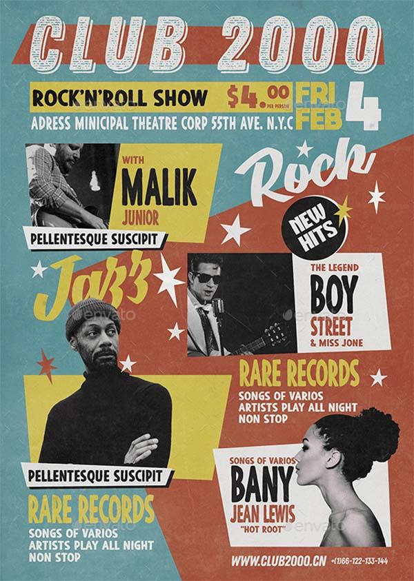 Vintage Poster & Music Flyer Template