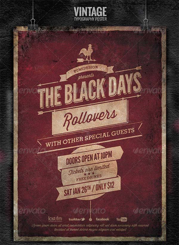 Vintage Typography Poster Template