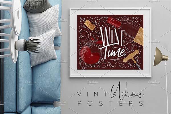 Vintage Wine Posters Template