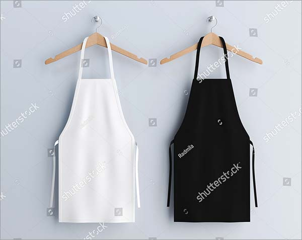 White and Black Aprons Vector Mockup