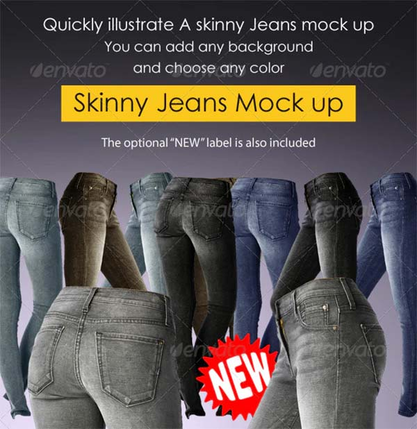 Woman Jeans Mock-up