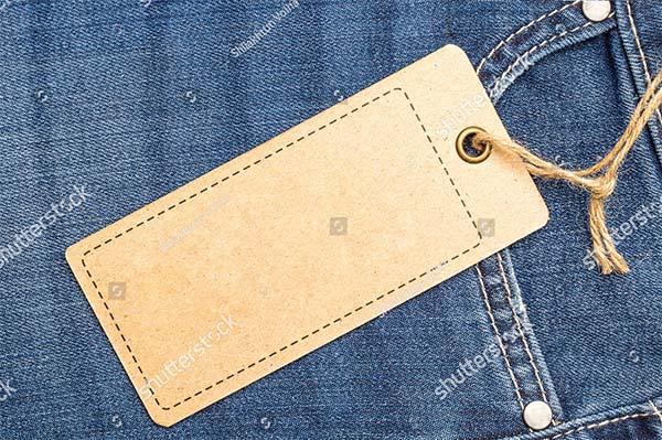 Jeans Vector Label Price Tag Mockup