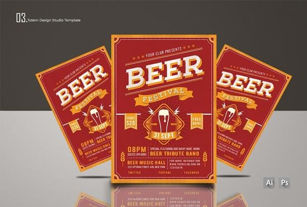 Beer Festival Editable Flyer Template