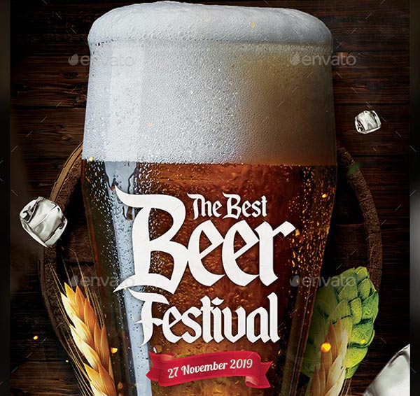 Beer Festival Party Flyer Template