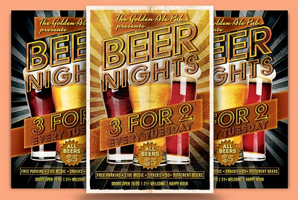 Beer Nights Flyer Template