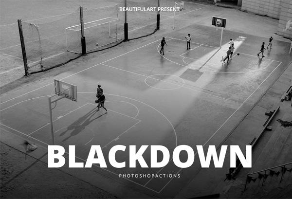 Black Down Photoshop Action
