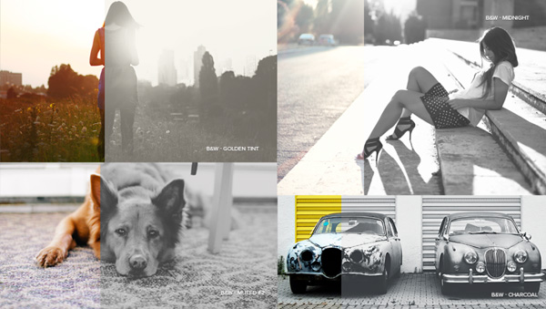 Black & White Series Photoshop Actions Template