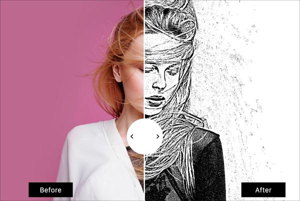 Black & White Sketch Art Maker Template