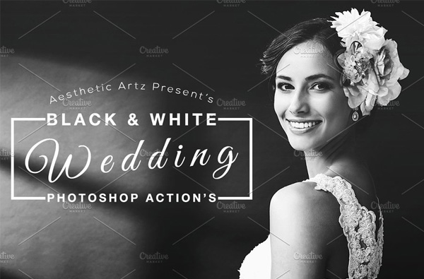 Black & White Wedding Actions