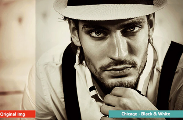 Black and White Adobe Photoshop Actions