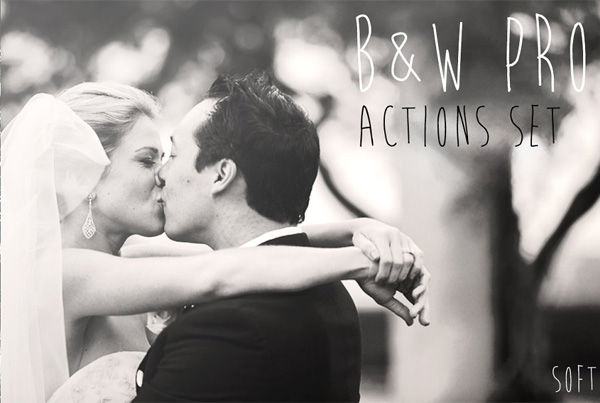 Black and White PRO Actions Set