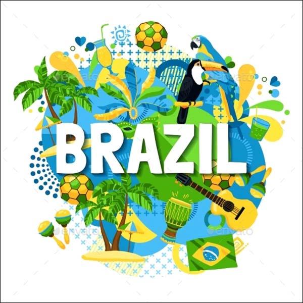 Brazil Carnival Poster PSD Template
