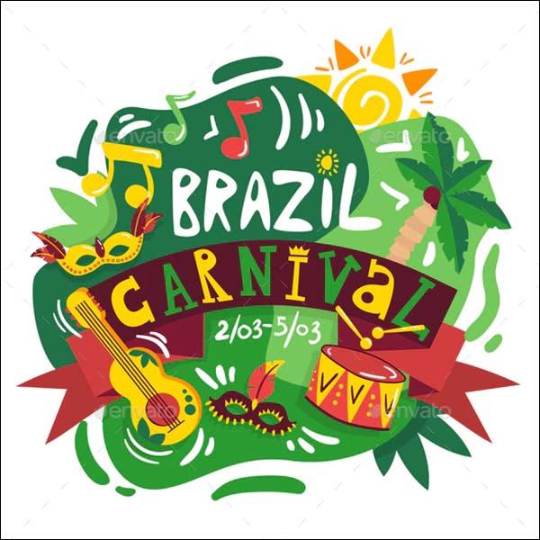 Brazil Carnival Poster Template