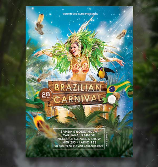 Brazilian Carnival Flyer and Poster Template