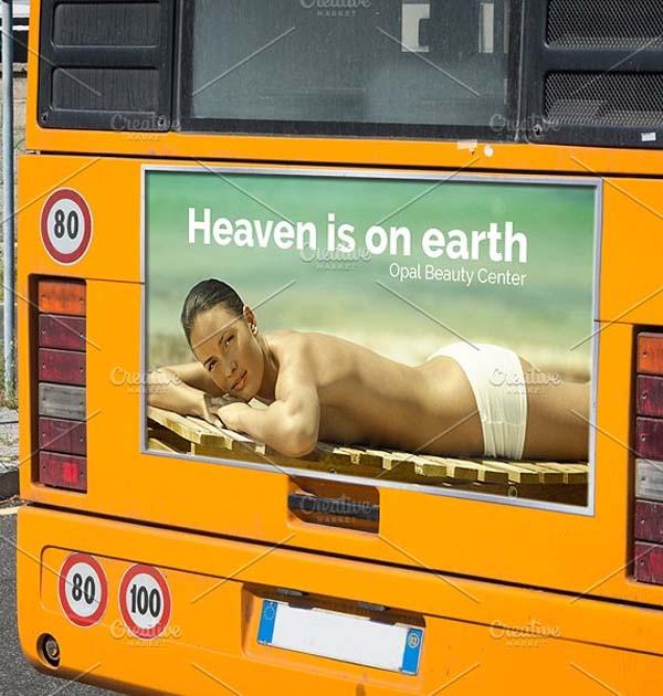 Bus Signage Mockup Template